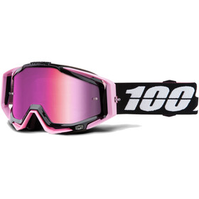 100% Racecraft Anti Fog Mirror Maschera rosa